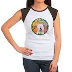 XmasMusic 3/OES #3 Women's Cap Sleeve T-Shirt