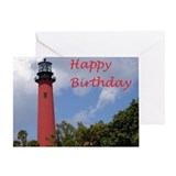 Lighthouse Birthday Card with Religious Message