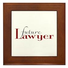 Future Lawyer Framed Tile