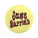 "Funky Just Married 3.5"" Button"