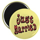 Funky Just Married Magnet