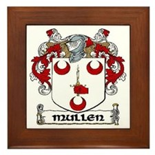 Mullen Coat of Arms Framed Tile