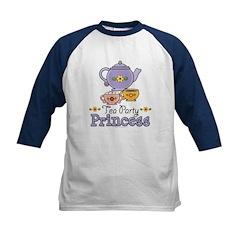 Tea Party Princess Kids Baseball Jersey