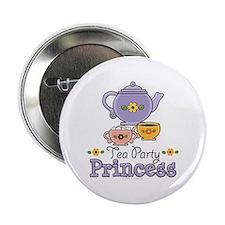 """Tea Party Princess 2.25"""" Button"""