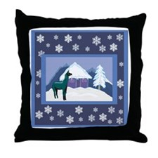 Snowflake Alpaca Throw Pillow