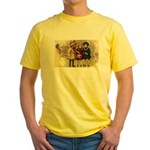 Ice Skate Christmas Yellow T-Shirt
