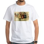 Ice Skate Christmas White T-Shirt