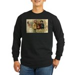 Ice Skate Christmas Long Sleeve Dark T-Shirt