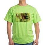 Ice Skate Christmas Green T-Shirt