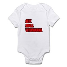 """Sexy. Single. Veterinarian."" Infant Bodysuit"