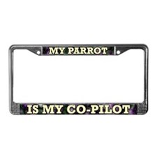 My Parrot is my Co-Pilot License Plate Frame
