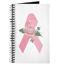 Breast Cancer Ribbon & Rose Journal