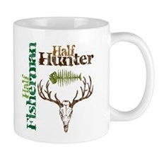 Half Fisherman. Half Hunter. Mug