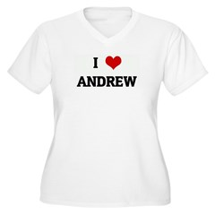 I Love ANDREW Women's Plus Size V-Neck T-Shirt