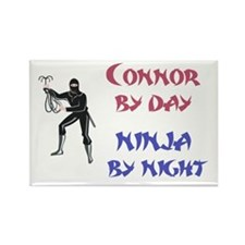 Connor - Ninja by Night Rectangle Magnet