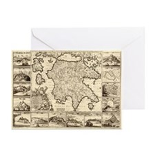 Ancient Greece Map Greeting Cards (Pk of 20)