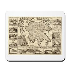 Ancient Greece Map Mousepad