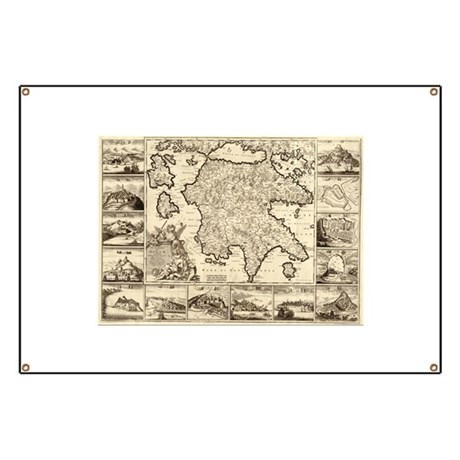 Ancient Greece Map Banner