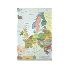 Europe Map Rectangle Magnet (10 pack)