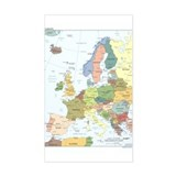 Europe Map Rectangle Decal