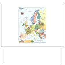 Europe Map Yard Sign