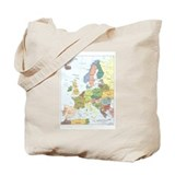 Europe Map Tote Bag