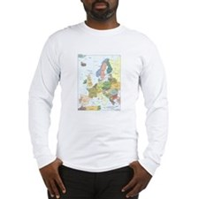 Europe Map Long Sleeve T-Shirt