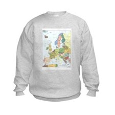 Europe Map Jumper Sweater