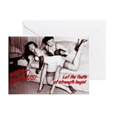 "Adult Festivus ""Feats of Strength"" Cards"