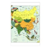 Asia Map Postcards (Package of 8)