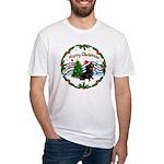 XmasMusic1/Dachshund #17 Fitted T-Shirt