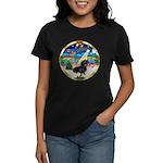 XmasMusic 3/Dachshund 17 Women's Dark T-Shirt
