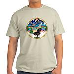 XmasMusic 3/Dachshund 17 Light T-Shirt
