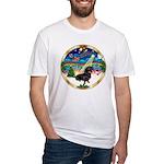 XmasMusic 3/Dachshund 17 Fitted T-Shirt