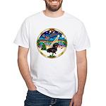 XmasMusic 3/Dachshund 17 White T-Shirt