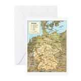 Germany Map Greeting Cards (Pk of 10)