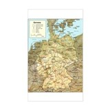 Germany Map Rectangle Decal
