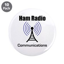 "Ham Radio Communications 3.5"" Button (10 pack)"