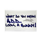 a.d.d. bunny * Rectangle Magnet