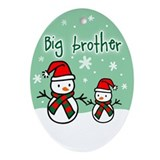 Funny Big brothers Oval Ornament