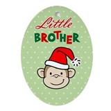 Cool Big brother monkey Oval Ornament