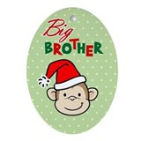 Funny Big brother monkey Oval Ornament