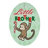 Cute Big brother monkey Oval Ornament
