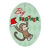 Unique Big brother monkey Oval Ornament