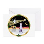 Wisemen/Whippet #8 Greeting Cards (Pk of 10)