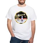 Wisemen/Whippet #8 White T-Shirt