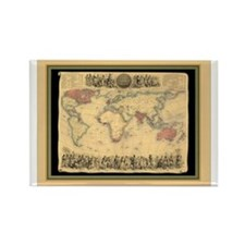 1850 British Empire Map Rectangle Magnet