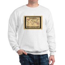 1850 British Empire Map Sweatshirt