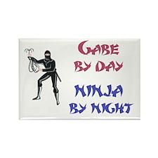 Gabe - Ninja by Night Rectangle Magnet