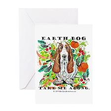 Basset Hound Ecology Greeting Card